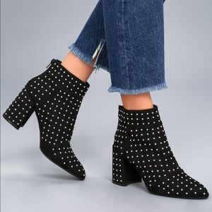Edgy Studded Ankle Booties